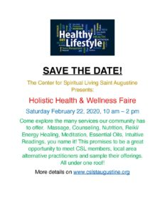 Holistic Health Faire @ Center for Spiritual Living, St. Augustine