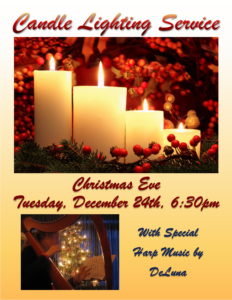 Christmas Eve Candlelight Service @ Center for Spiritual Living, St. Augustine