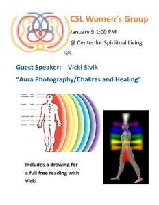 """Aura Photography/Chakaras and Healing"" @ Center for Spiritual Living, St. Augustine"
