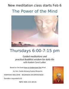 Buddhist Meditation Class @ Center for Spiritual Living, St. Augustine